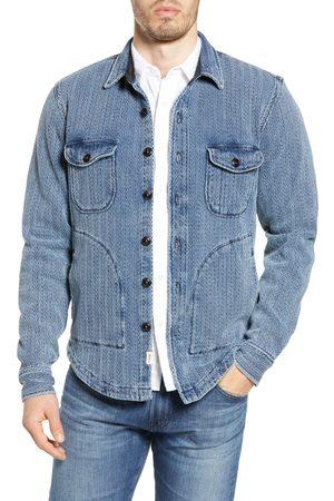 KATO' Men's The Anvil Herringbone Shirt Jacket