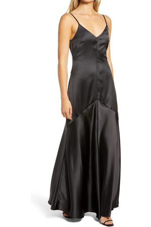 Lulus Women Evening dresses - Women's Buena Satin Gown