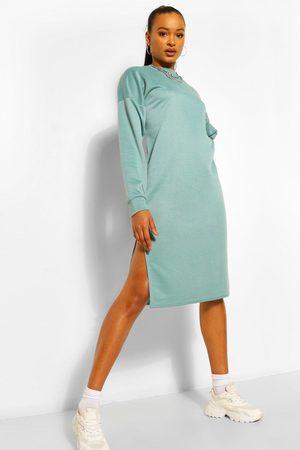 Boohoo Womens Split Midi Sweat Dress - - 2