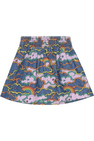 Stella McCartney Printed denim skirt