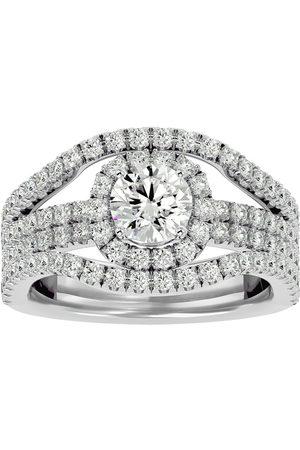 SuperJeweler Women Rings - 2 Carat Moissanite Halo Engagement Ring in 14K (6.70 g)