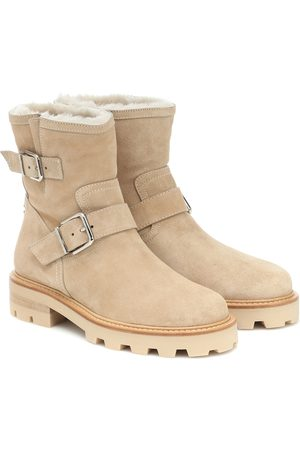 Jimmy Choo Girls Ankle Boots - Youth II suede ankle boots