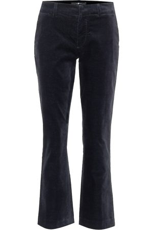 7 for all Mankind Mid-rise cropped velvet pants