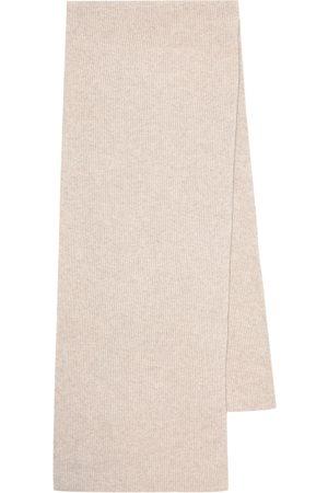 Ganni Ribbed-knit wool-blend scarf