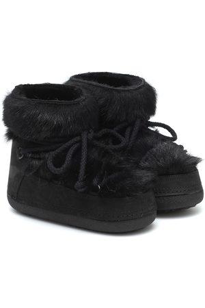 INUIKII Toskana shearling and suede boots