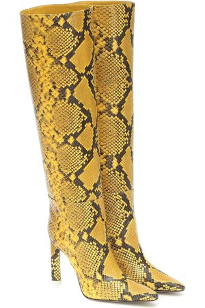 The Attico Snake-effect leather knee-high boots