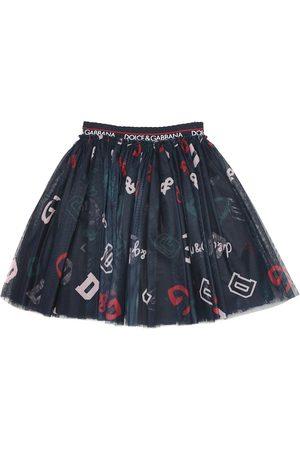 Dolce & Gabbana Printed tulle skirt