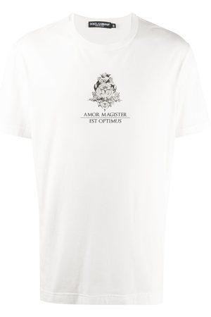 Dolce & Gabbana Latin logo print T-shirt
