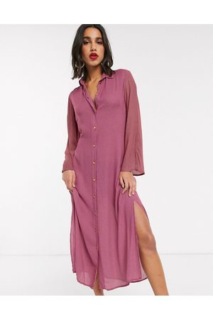 Closet Closet shirt dress with tie front in