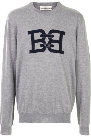 Bally Logo print knitted sweatshirt - Grey
