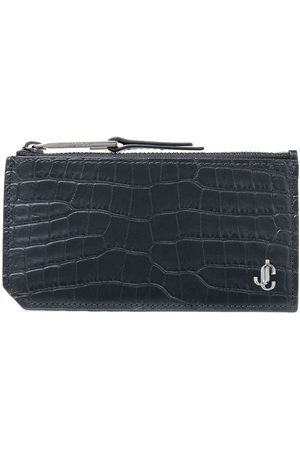 Jimmy Choo Crocodile-effect Casey cardholder