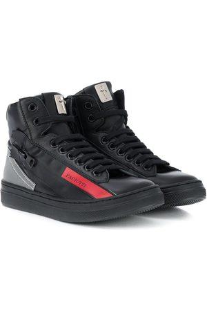 Cesare Paciotti Kids Logo-print high-top sneakers