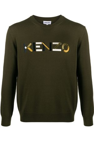 Kenzo Embroidered logo wool jumper