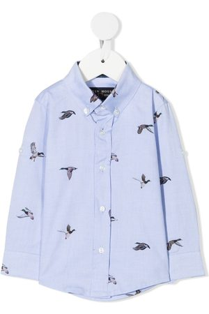 Lapin House Duck print button-down shirt