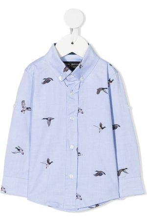 Lapin House Shirts - Duck print button-down shirt