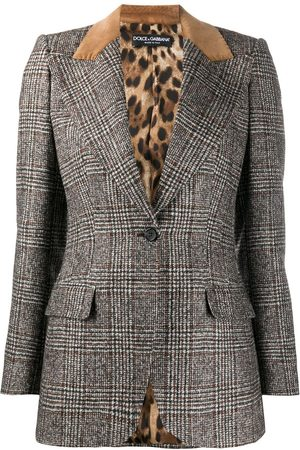 Dolce & Gabbana Women Blazers - Glen plaid single-breasted jacket