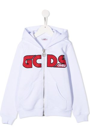 GCDS Long sleeve logo hoodie