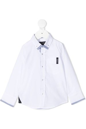 Lapin House Logo patch fitted shirt