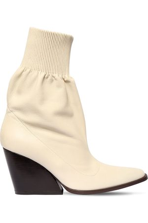 Kenzo 85mm Leather Ankle Boots