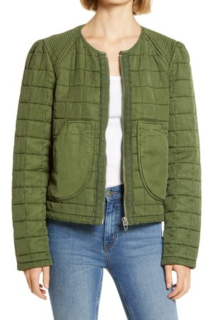 BLANK NYC Women's Quilted Zip Jacket