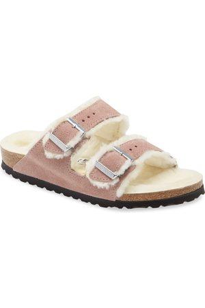 Birkenstock Women's Arizona Genuine Shearling Slide Sandal