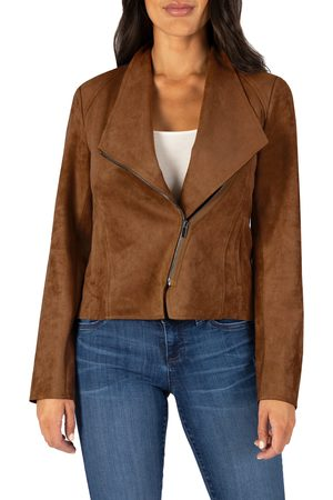 Kut From The Kloth Women's Carina Faux Suede Drape Moto Jacket