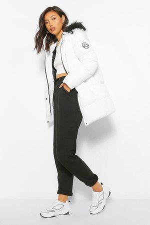 Boohoo Womens Luxe Technical Faux Fur Trim Parka - - 4