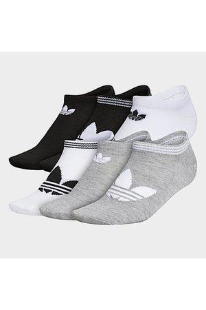 adidas Women's Originals 6-Pack No-Show Socks in /Grey/ Size Medium Cotton