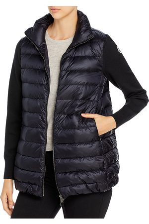 Moncler Cardigan Knit Sleeve Down Puffer Coat