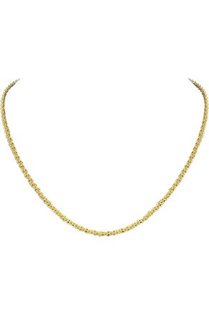 SuperJeweler 14K (9.50 g) Over Sterling Silver Basket Chain Necklace