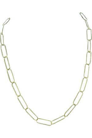 SuperJeweler 14K (6.30 g) Over Sterling Silver Textured Paperclip Chain Necklace