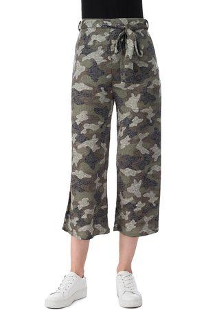 Bobeau Doris Cropped Printed Pants