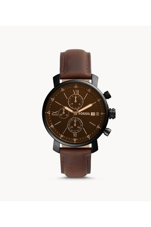 Fossil Men's Rhett Chronograph Leather Watch