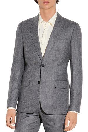 Sandro Wool Flannel Suit Jacket