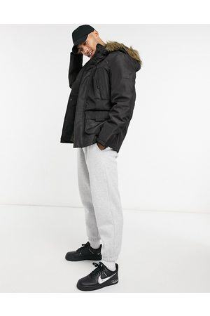 Jack & Jones Parka with faux fur trim in