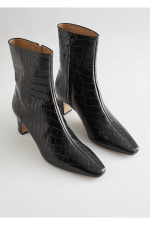 & OTHER STORIES Leather Heeled Ankle Boots