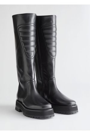 & OTHER STORIES Topstitched Tall Leather Boots