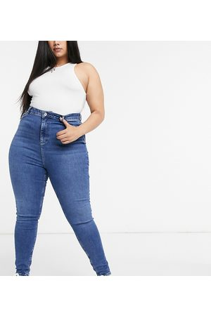 New Look New Look Curve skinny jeans in mid