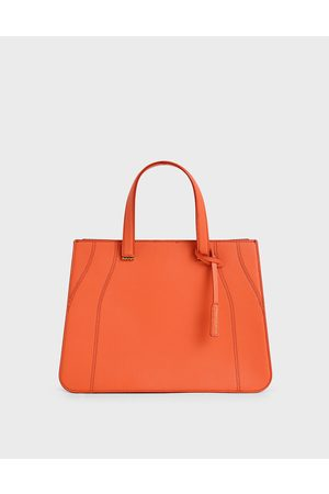 CHARLES & KEITH Women Tote Bags - Double Top Handle Tote Bag