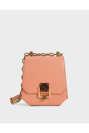 CHARLES & KEITH Metallic Accent Geometric Crossbody Bag