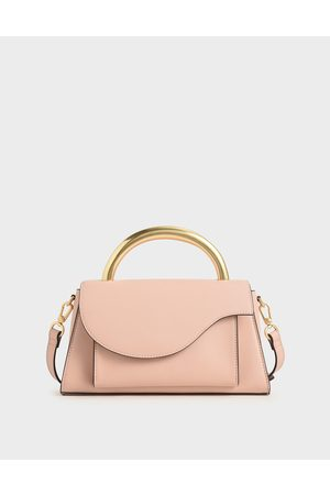 CHARLES & KEITH Bags - Angular Flap Metallic Top Handle Bag