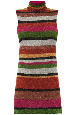 ASHISH Sequin-striped Open-back Mini Shift Dress - Womens - Multi