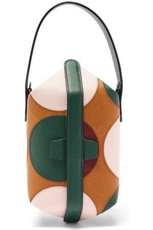 VALEXTRA X La DoubleJ Tric Trac Polka-dot Leather Bag - Womens - Tan Multi