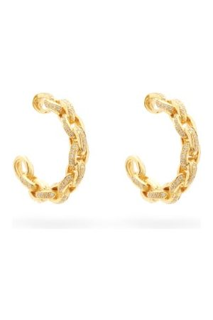 PATCHARAVIPA Diamond & 18kt Chain-hoop Earrings - Womens
