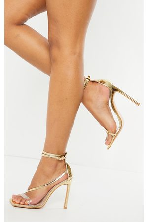 PRETTYLITTLETHING WIDE FIT Square Toe Asymmetric Strap Sandal