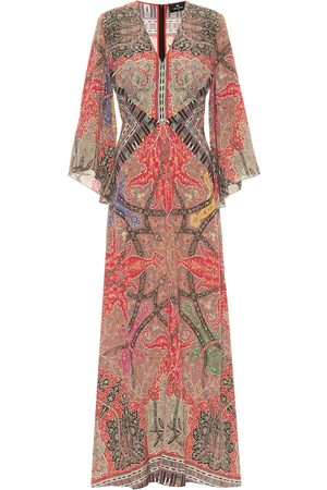 Etro Printed silk georgette gown