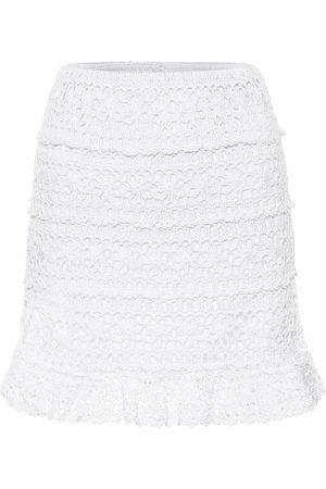 ANNA KOSTUROVA Jocelyn crochet cotton miniskirt