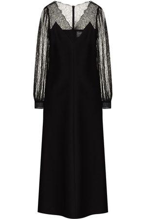VALENTINO Lace detail midi dress