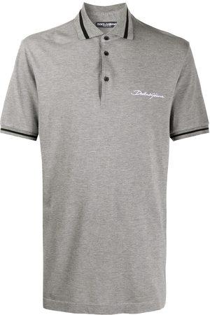 Dolce & Gabbana Embroidered logo polo shirt - Grey