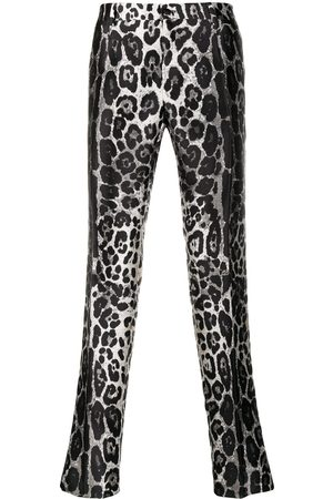 Dolce & Gabbana Leopard-print straight-leg trousers